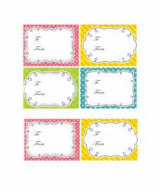Free Printable Tags Templates by 44 Free Printable Gift Tag Templates Template Lab
