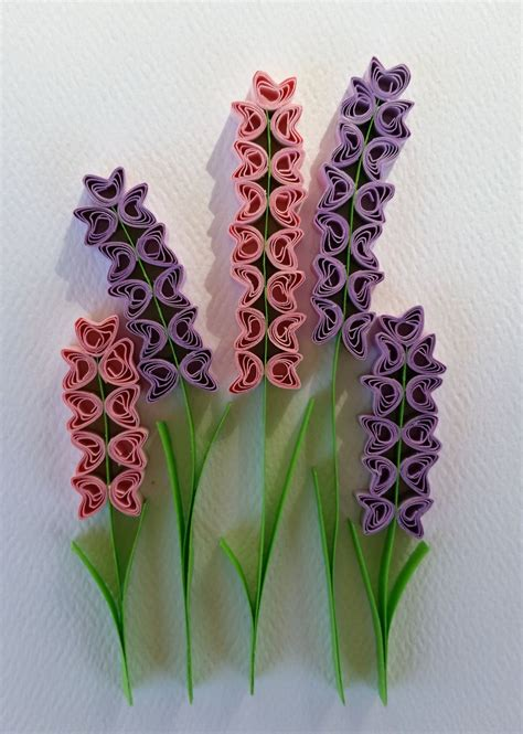 flower design made by paper paper quilled hyacinth flowers card 5x7 by iheartquilling