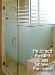 Glass Enclosed Shower frosted glass custom cut frosted glass delivered to your
