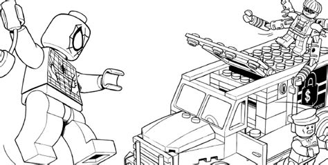 lego spider man coloring coloring pages