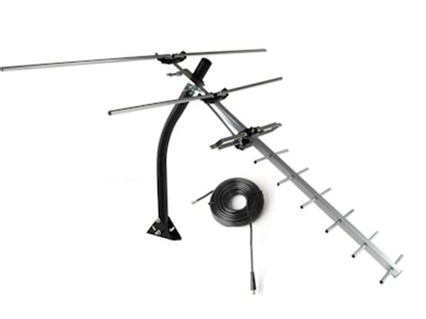 cable mart hdtv  air uhfvhf antenna compact roofattic mount    miles