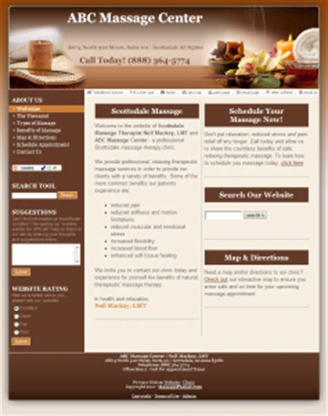 Websites For Massage Therapists Free Massage Website Mmip Therapy Websites Templates