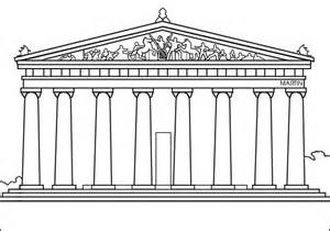parthenon template parthenon greece drawing coloring page search