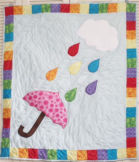The Rainbow Quilt Pattern by Sew Can Do Free Project Pattern The Rainbow Showers Quilt
