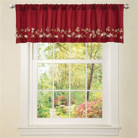 faux silk flower drop window valance contemporary