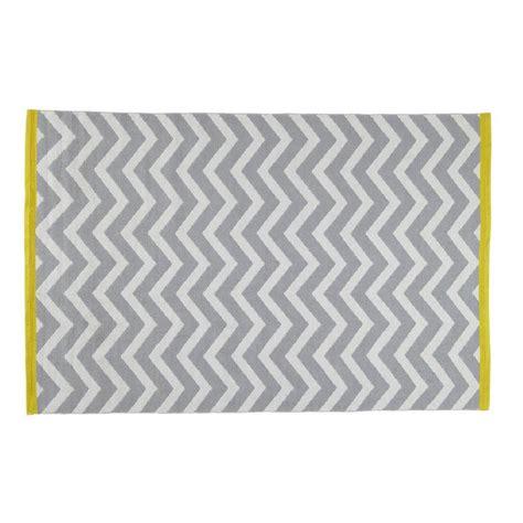tappeto grigio tappeto grigio in cotone a pelo corto 140 x 200 cm wave