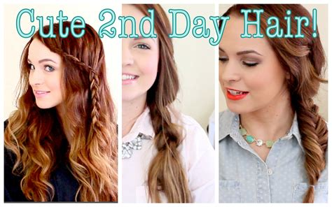 next day hair styles cute without trying second day hair youtube