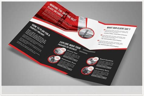 one fold brochure template travel brochure templates for travel agencies texty cafe