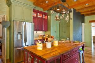 Colorful Kitchen Cabinets creative ways to use color in your dull kitchen