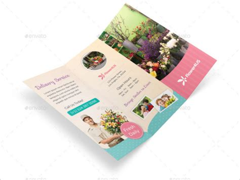Wedding Floral Brochure by Florist Brochure Templates Free Psd Vector Eps Jpg