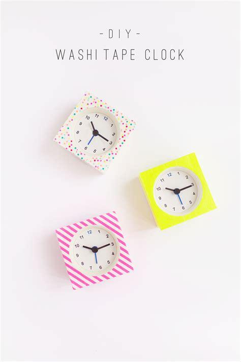 diy washi tape crafts diy washi tape clocks tell love and party