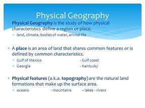 Physical Landscape Definition Human Geography Geography Is The Study Of The Ppt