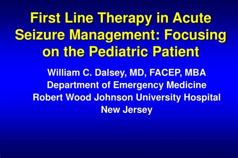 Department Code For Mba by Ppt Line Therapy In Acute Seizure Management