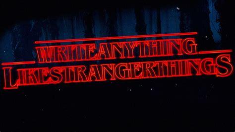 write   stranger  font