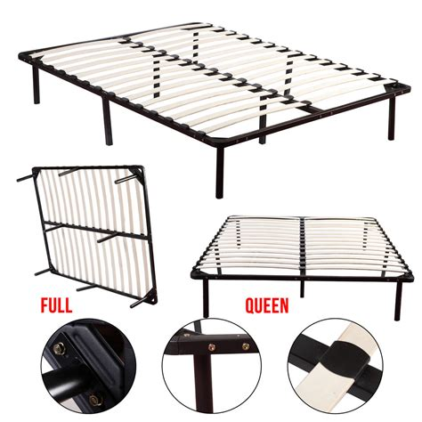 How To Stop A Metal Bed Frame From Squeaking Wood Slats Metal Platform Bed Frame Mattress Foundation Size Bedroom Ebay