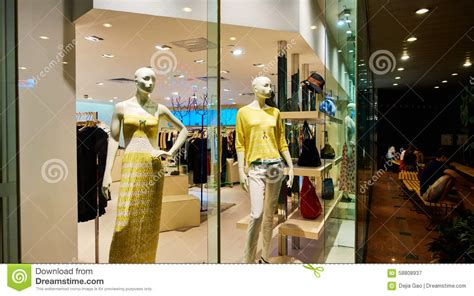 fashion clothing store clothes shop window stock image