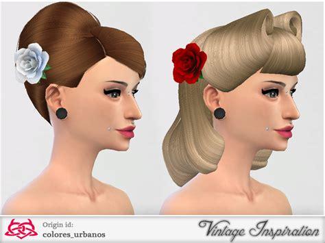 sims 4 cc hair accessories colores urbanos rose