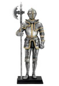 Overstock Vases Medieval Knight Holding Pollaxe Weapon Statue Suit Of