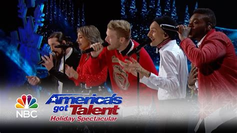 pentatonix performs nsyncs merry christmas happy holidays  agt holiday spectacular