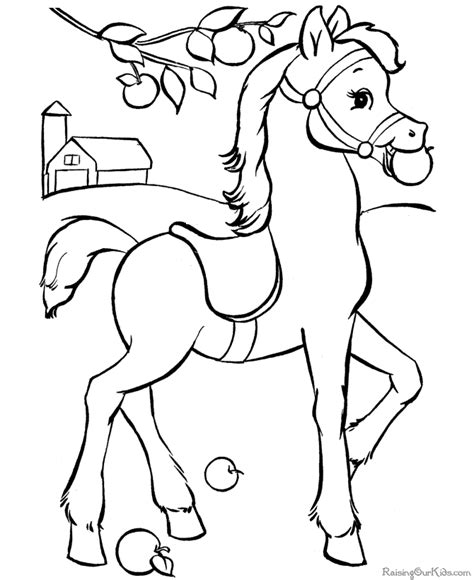 coloring pictures of horses to print to print and color 023