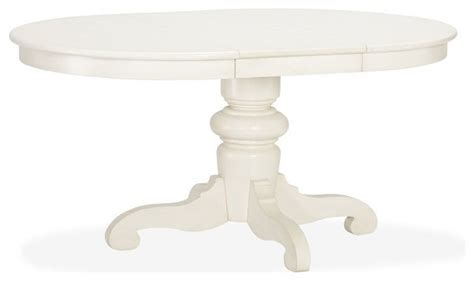 White Pedestal Dining Table by Tivoli Extending Pedestal Dining Table Almond White