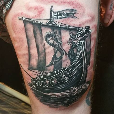 30 viking ship tattoos