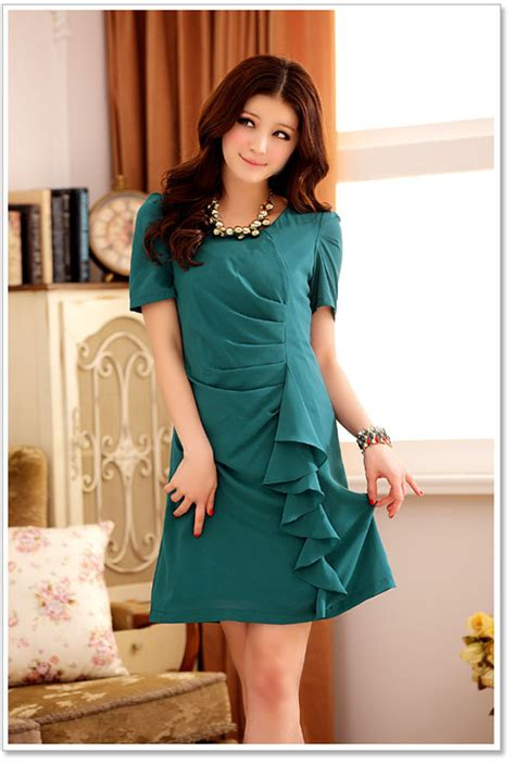 clothes wholesale trendy dress k3402 green k3402