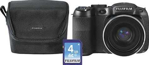Fujifilm Finepix S2980 14 Mp Hitam fujifilm finepix s2980 14 0 megapixel digital fujifilm s2980 bundle best buy