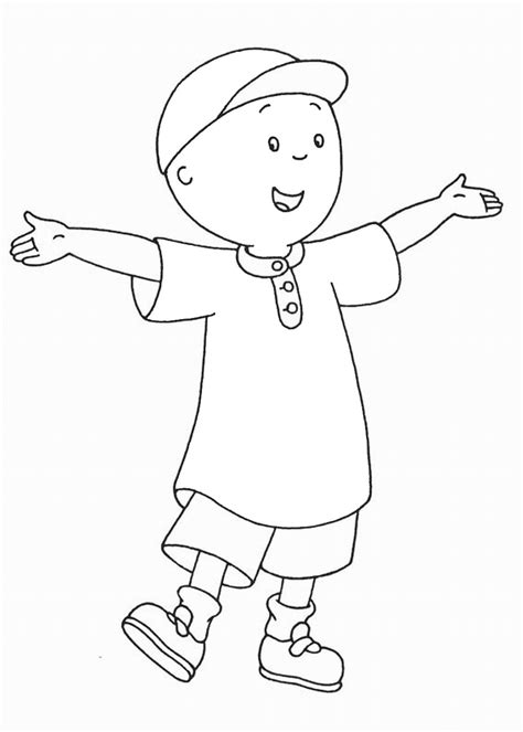 Printable Caillou Coloring Pages Coloring Me Caillou Printable Coloring Pages