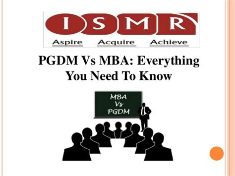 Vs Mba by Pgdm Vs Mba