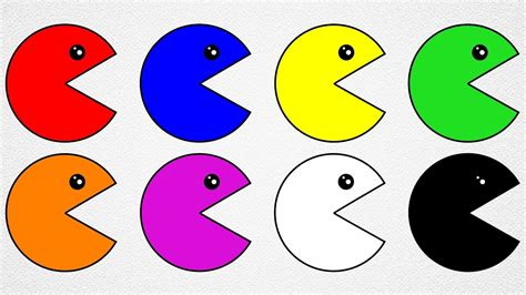pacman colors learn colors with pacman coloring pages for to