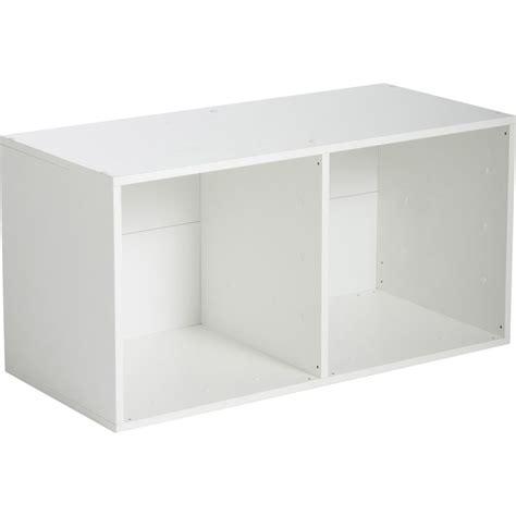 etagere 55 cm etag 232 re 2 cases multikaz blanche l35 2 x h69 2 x p31 7 cm