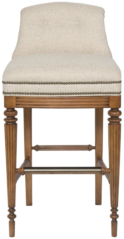 Tufted Button Back Bar Stools by Vanguard Furniture Accent Chairs Armless Upholstered Bar Stool With Button Tufted Back Belfort