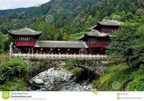 china house design sichuan province china mountainside chinese house royalty free stock images image