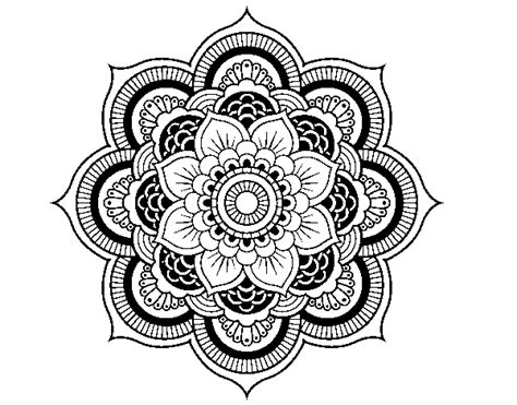 mandala coloring pages of flowers mandala flower coloring page coloringcrew