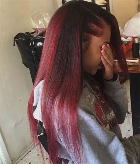 straight red ends sew in hairstyles 70 best crochet braids images on pinterest natural hair