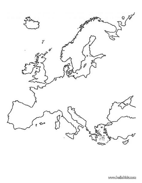 coloring pages map europe europe map coloring pages hellokids com