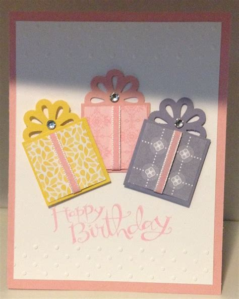 Birthday Handmade Cards - cards stin up birthday card using