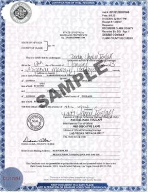 Clark County Recorder Las Vegas Marriage Home Www Lasvegasvitalrecords