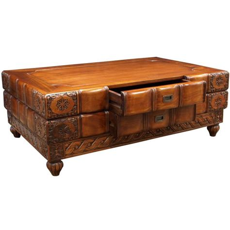 Carved Coffee Table Indian Carved Coffee Table Akd Furniture