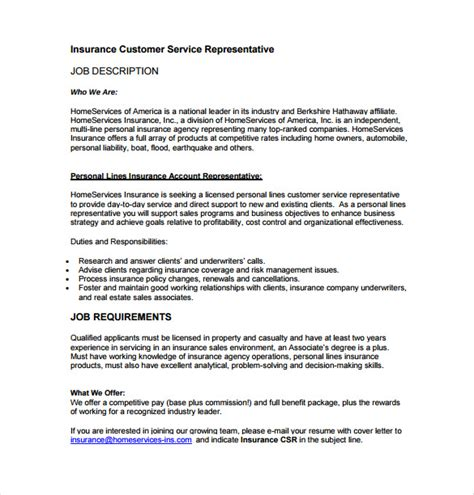 customer service representative duties for resume resume sample