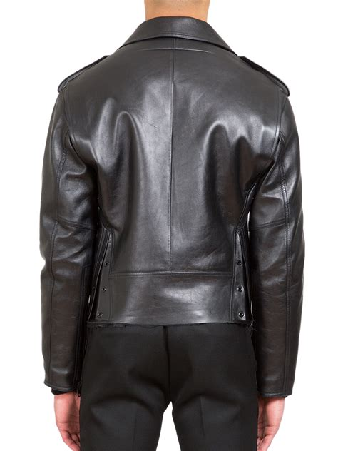 givenchy leather jacket givenchy leather moto jacket in black for lyst