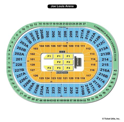 joe louis arena seat map joe louis arena seating map brokeasshome