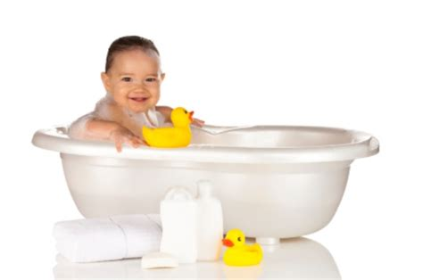 baby in a bathtub bathing your toddler