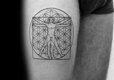 vitruvian man tattoo 50 vitruvian designs for da vinci ink ideas