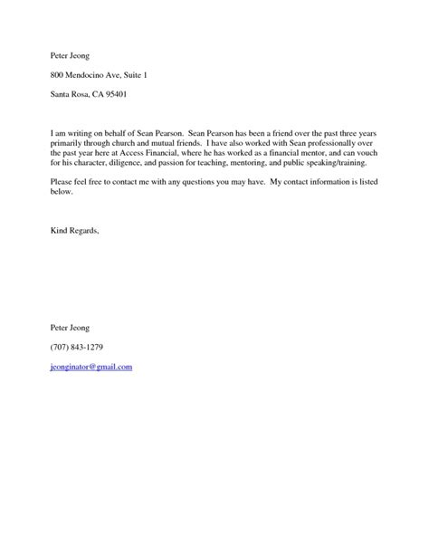 Reference Letter Information Personal Letter Of Recommendation For A Friend Recommendation Letter For A Friend Template