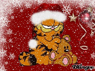 christmas garfield picture 102521522 blingee com