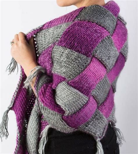 free knitting classes free knitting pattern and class for entrelac shawl