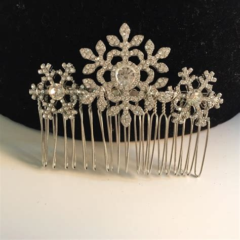 Wedding Hair Accessories Snowflake by Winter Snowflake Hair Comb Wedding Hair Comb Bridal