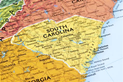 of south carolina in race in south carolina clinton with wide